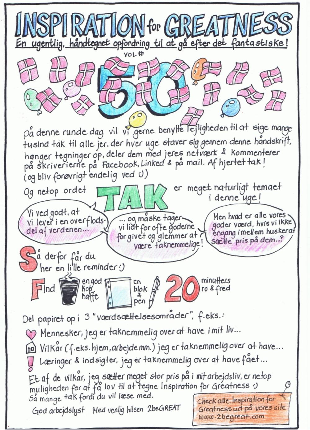 Vol# 50 - om taknemmelighed